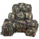 CAMOUFLAGE WATER REPELLENT 5PC. LUGGAGE SET