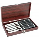 SLITZER GERMANY 7PC. STEAK KNIFE SET IN WOOD BOX