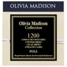 OLIVIA MADISON COLLECTION 1200 SERIES 4PC. SHEET SET